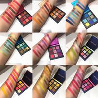 Güzellik Sırlı Makyaj Göz Farı Pallete makyaj fırçalar 9 Renk Pırıltılı Pigmentli Göz Farı Paleti makyaj Paleti maquillage