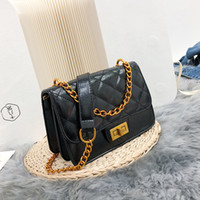 2018 Leather Flap Plaid bags Shoulder Cross body Purse Fashi...