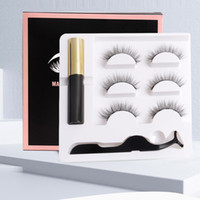 Yiowio Fashion Light 3D Lashes magnétiques Cilia Eye Maquillage Magnet Soft Naturel Faux Cils Ensemble Iman Vente en gros avec boîte de luxe Logo Impression