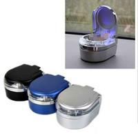 Unique moderne LED Light Variez la corbeille Cendrier Cendrier Smoking Accessoires Outils Plastique Cigarette Sold Storage 3 couleurs