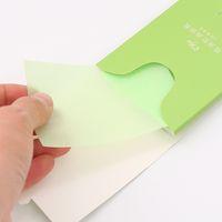 Tejidos absorbentes de aceite natural-400 piezas, papel para borrado de aceite facial de primera calidad: tome solo 1 piezas cada vez Diseño-Hojas grandes de 10 cm x 7 cm, para pieles grasas