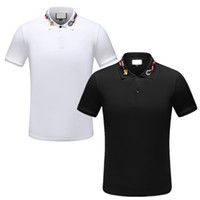 Novo designer Polo Homens Luxo Polo Casual Men Polo T Shirt Cobra Bee Carta Imprimir t-shirt Designer Bordados Moda High Street