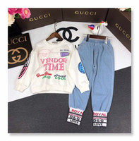Two Piece Outfits Children' s Garment Girls 2018 Male Su...