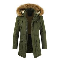 Warm Coat Hooded Jacket Mens Winter Zipped Warm Tracksuit Ca...