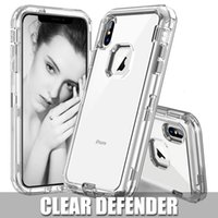 3 in 1 Clear Robot Transparent Cases For iPhone XR XSMAX 7 6...