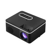 기존 LED 미니 프로젝터 320 × 240 픽셀 1080P H90 HDMI의 USB 오디오 휴대용 프로젝터 홈 미디어 비디오 플레이어 동영상 게임 Proyector 지원