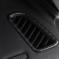 탄소 섬유 대시 보드 공기 조건 환기구 덮개 Mercedes C 클래스 W205 C180 C200 GLC 액세서리 용 트림 프레임