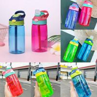 زجاجة ماء الأطفال مع القش 400ML عالية السعة مدرسة الحضانة عطلة حزب الرياضة زجاجات المياه المحمولة