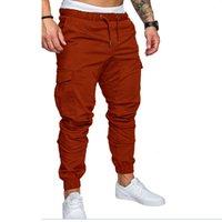 Nouveaux 2020 Casual Joggings solide Couleur Hommes coton élastique Pantalons cargo militaire Pantalons Leggings