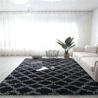 FBC19011017 거실 용 긴 머리 깔개가있는 플러시 침실 카펫 바닥 럭셔리 홈 인테리어