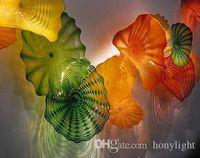 Современное искусство Декор выдувное стекло Стеновые плиты Вэл Дизайн Главная Декоративные боросиликатного Murano цветов Стеклянные висячего плиты