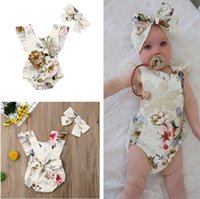 Newborn Baby Clothes Infant Toddler Flower Rompers Jumpsuit ...