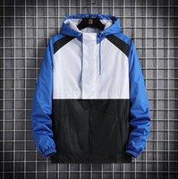 Nueva chaquetas de hombre de la moda del diseñador mylon hecha en blanco y negro natural de color azul artesonó envío rápido de ventilación normal ocasional impermeable T-25