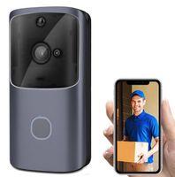 M10 WIFI-Türsprechanlage-Gegensprechanlage-Video-Türklingel-Akku-Video-Tür-Tür-Glocke drahtlose Türsprechanlage Türsprecher-Kamera-Unterstützung TF-Karte