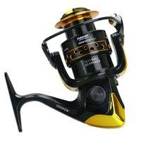 12 + 1BB Spinning Carretel De Pesca Duro Engate de Água Salgada de Água Doce Luz Suave Carretilhas De Mão Equipamento De Pesca Acessórios