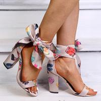 Chaussures Femme Mode d'été Sandales à talons hauts Parti Bow Fleur Zapatos De Mujer Sandalias De Verano Para Mujer