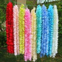 1M طويل الحرير الاصطناعي الزهور الوستارية فاين القش 20 الألوان وهمية زهرة يرتكز جدول مناسبات الزفاف لوازم حديقة جدار زهرة