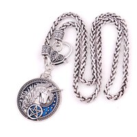 HX32 European and American popular pentagram garden unicorn pendant leather rope Weaving chain snake chain wheat link chain necklace