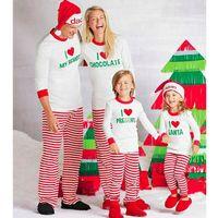Meihuida Familie Matching Weihnachten Pyjamas Set Frauen Männer Erwachsener Weihnachts weiche Baumwollstreifen Brief Druck Nachtwäsche Nachtwäsche