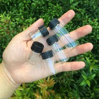 Mini Glass Bottles 5ml 6ml 7ml 10ml 14ml With Plastic Black ...