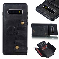Кожаный кожаный кожаный кожаный стенд силиконовые чехлы для телефона для Samsung Galaxy S10 S8 S9PLUS Note 10 A6 A7 J4 J6 Plus Card Plot Flip