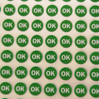 30000pcs lot 10mm OK Self- adhesive paper label sticker for q...
