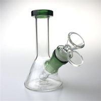Nouveaux bangs d'eau de verre de 5 pouces avec bol en verre de verre de 14mm en verre d'épaisseur recycleur de recyclage beaker BONG Mini plates-formes pour fumer Tuyaux d'eau