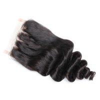 Bella 4 * 4 GRATIS / MIDDE / 3 PARTE FOOD WAVE TOP HD Cuerda de encaje Natural Hairline Malasia Peruano Ofertas de cabello humano brasileño