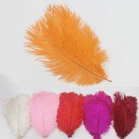 25-30cm de penas de avestruz estágio festival mostra partido arranjo de flores de casamento celebração criativo artesanato personalizado pena de cor