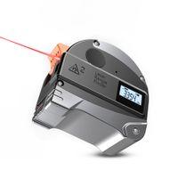 2 في 1 30 متر 40 متر الليزر rangefinder lcd الرقمية شريط قياس usb شحن متر المدى مكتشف الأشعة تحت الحمراء البناء GaugingTool