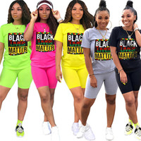 Women Shorts Tracksuit Fashion Black Lives Matter Print Summ...