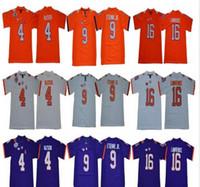 NCAA Men Clemson Tigers Футбол Джерси 16 Тревор Лоуренс 4 Дешон Уотсон 9 Трэвис Этьен мл.