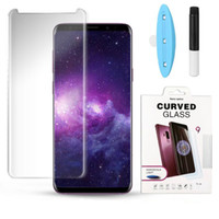 Liquid UV Glue Tempered Glass Screen Protector For Samsung G...
