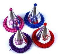 Prata Feliz Festa de Aniversário Chapéus DIY Handmade Cap Princesa Coroa Do Chuveiro de Bebê Primeiro Aniversário Decorações Do Partido Suprimentos