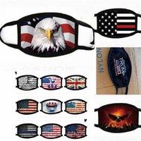 Cara de la moda de la máscara de impresión Máscaras EE.UU. América del águila del indicador Trump lavable de algodón a prueba de polvo de la cara máscara máscaras protectoras hombres de las mujeres 15 colores 2020