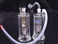 LED Cam Nargile Yağ Endişesi Sigara Boru Inline Çekiç Perc Taşınabilir Kabarcıklar Su Oil Rig Bong