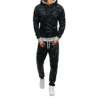 2019 Brand Sporting Suit Men Warm Hooded Tracksuit Track Pol...