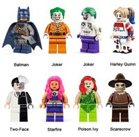 DC Esquadrão Suicida super-herói Mini Action Figure Building Blocks Batman Joker Harley Quinn Duas Caras Poison Ivy Starfire Toy Espantalho