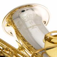 اليابان ياناجيساوا WO37 ألتو إي إي شاكس ساكسفون الآلات الموسيقية EB الفضة الذهب مفتاح مطلي ألتو ساكسفون المستوى المهني مجانا