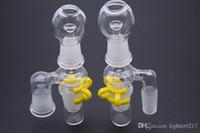90degree 14mm 18mm Homme Femme Récupérateur Adaptateur en verre avec ongles en verre Dôme et Jar Keck clip pour verre Bangs huile et tamponnez Rigs