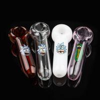 아름 다운 흡연 파이프 유리 핸드 파이프 다채로운 물 담뱃대 bongs 담배 DAB 장비 물 봉