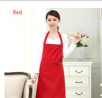 1 parça 2-cebi kadın önlüğü garson önlüğü barbekü restoranı mutfak pişirme önlükleri çalışma elbise 60x70cm TO279