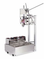 Máquina del fabricante de la navegación comercial 3L churros gratis con 12L eléctrica Litros freidora, máquina de hacer churros