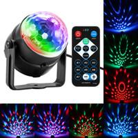 Light Party Disco Ball rotante suono ha attivato Strobe fase lampada per il compleanno DJ Bambini Natale Lumiere Soundlights luci da discoteca LED
