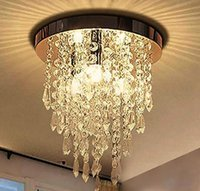 Crystal Chastelier Lighting Современный Crystal 3 Огни Flush Mount Потолочный светильник Для Спальни Прихожая Гостиная Кухня Обеденная комната LF