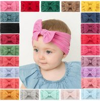 Europe and the United States new hot selling children's jewelry super soft nylon bow baby hair band cute princess nylon hair band WY1162