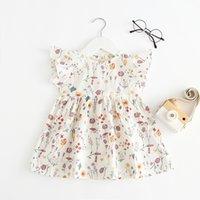 ZHBB INS Korean Baby Kids girls dress Child princess summer Boutique Children Clothing Floral Dresses