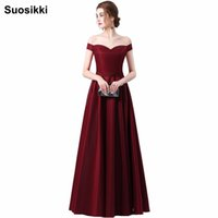 wholesale 2018 New Bride Married Banquet Flower Evening Dres...