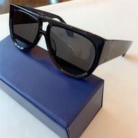 Arrefecer Pilot óculos de sol preto / cinza Shaded Sun Glasses 1248 Shades UV 400 Lentes de novo com caixa