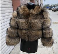 real natural de guaxinim jaqueta de inverno casaco de pele de 2020 mulheres novas do estilo feminino curto quente grossa fino em torno do pescoço de alta qualidade